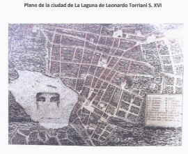 Plano de La Laguna L. Torriani S. XVI