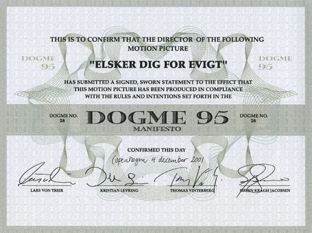 Traballo sobre o movemento Dogma 95