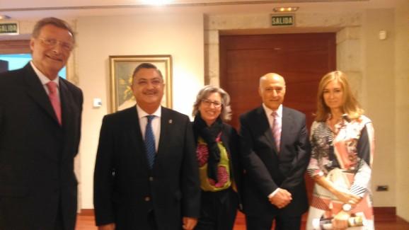 Felipe Martín, Ernesto Pedrosa, Coro Piñeiro, Alejandro Otero y María Jesús Corvo
