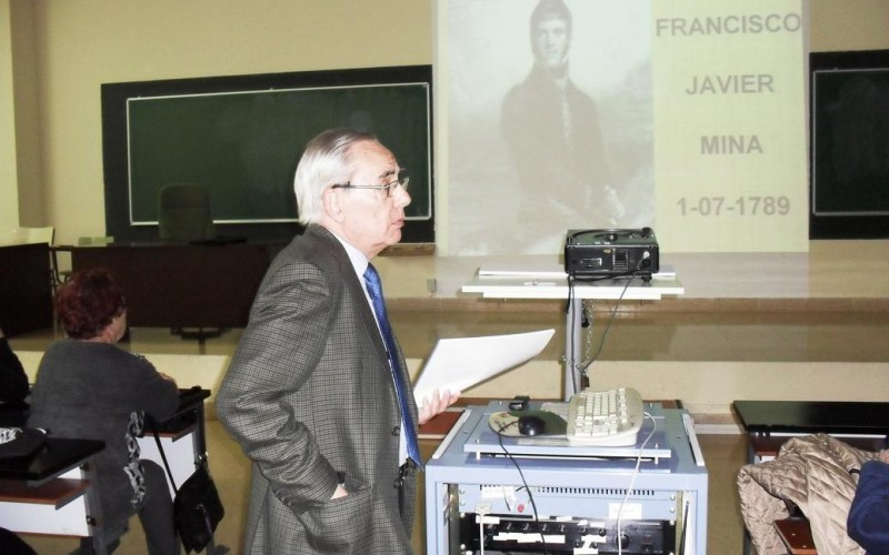 """Conferencia """"Javier Mina, el estudiante"""" por D. Carlos Melús"""