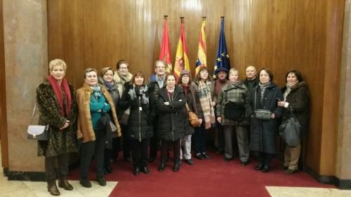Visita al Ayuntamiento de Zaragoza