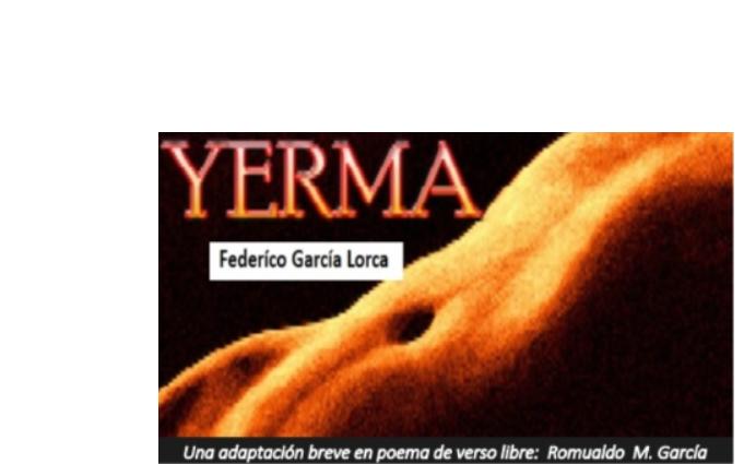 YERMA, de Lorca, adaptación breve en verso libre